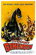 1959 Movies Photo Posters - The Giant Behemoth, 1959 Poster by Everett