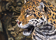 Mayan Jaguar Prints - The Gift of Power Print by J W Baker