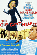 1956 Movies Prints - The Girl Cant Help It, Jayne Mansfield Print by Everett