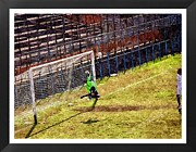 Sports Digital Art Metal Prints - The Goalkeeper Saves A Goal Metal Print by John Vito Figorito