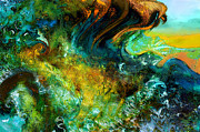 North Sea Mixed Media - The golden wave  by Anne Weirich