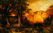 United States Of America Paintings - The Grand Canyon by Thomas Moran