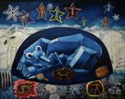 Lakota Paintings - The Great Bear Sleeps at the Edge of the World by Dawn Senior-Trask