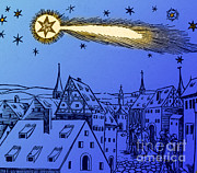 Bad Drawing Photo Posters - The Great Comet Of 1556 Poster by Science Source
