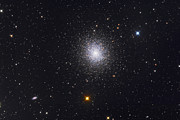 Star Clusters Posters - The Great Globular Cluster In Hercules Poster by Roth Ritter