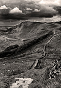Derbyshire Cross Prints - The Great Ridge To Mam Tor Print by Darren Burroughs
