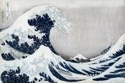 Great Painting Metal Prints - The Great Wave of Kanagawa Metal Print by Hokusai