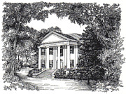 Restoration Drawings - The Grove Tallahassee Florida by Audrey Peaty