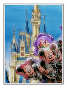 Disney Digital Art Framed Prints - The Happiest Place On Earth Framed Print by Kenneth Krolikowski
