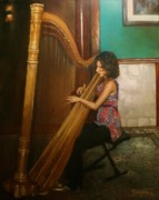 Player Originals - The Harpist by Tom Shropshire