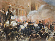 1886 Prints - The Haymarket Riot, 1886 Print by Granger