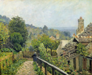 Rooftops Paintings - The Heights at Marly by Alfred Sisley