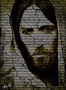 Christian  Glass Art Posters - The Hidden Word Poster by Lance  Kelly