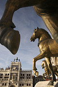 Ledge Photos - The Horses On The Basilica San Marcos by Jim Richardson