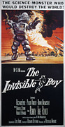 1957 Movies Photos - The Invisible Boy, Robby The Robot by Everett