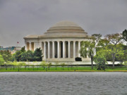 Jefferson Memorial Tapestries Textiles - The Jefferson Memorial by Bill Cannon