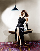 Slit Dress Framed Prints - The Killers, Ava Gardner, 1946 Framed Print by Everett