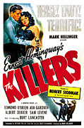 1946 Movies Posters - The Killers, Burt Lancaster, Ava Poster by Everett