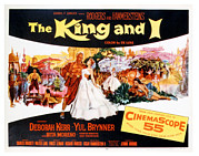 1956 Movies Prints - The King And I, Yul Brynner, Deborah Print by Everett