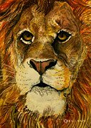 Big Cat Pastels Posters - The King  Poster by Rick Adkins