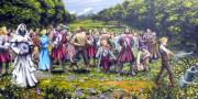 Great Painting Originals - The Kings Sword by James Sewell