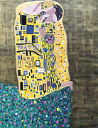 Gustav Klimt. Kiss Posters - The Kiss Poster by Angelina Vick