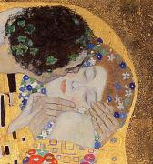 Leaf Paintings - The Kiss by Gustav Klimt