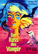 1960s Poster Art Posters - The Kiss Of The Vampire, Aka Kiss Of Poster by Everett