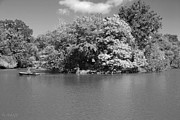 Park Scene Digital Art - THE LAKE in CENTRAL PARK by Rob Hans