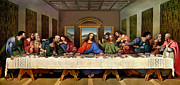 Print Painting Metal Prints - The Last Supper Metal Print by Leonardo da Vinci