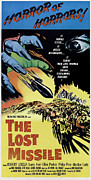 1950s Movies Photo Posters - The Lost Missle, 1958 Poster by Everett