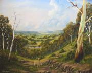 Landscapes Reliefs - The Lost Sheep In The Scrub by John Cocoris
