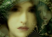 Portrait Of Woman Digital Art - The many faces of Eve by Gun Legler