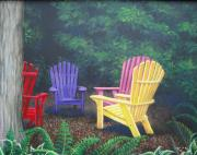 Lawn Chair Originals - The Meeting by Carrie Auwaerter