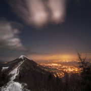 Winter Night Framed Prints - The Midnight On Malvern Hills Framed Print by Angel  Tarantella
