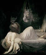 Horror Paintings - The Nightmare by Henry Fuseli