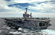 Carrier Photos - The Nimitz-class Aircraft Carrier Uss by Stocktrek Images