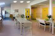 Empty Chairs Prints - The Nursing Centre A Building In Pärnu Print by Jaak Nilson