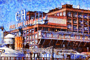 Back Road Digital Art Prints - The Old C and H Pure Cane Sugar Plant in Crockett California . 5D16769 Print by Wingsdomain Art and Photography