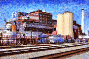 Towns Digital Art Acrylic Prints - The Old C and H Pure Cane Sugar Plant in Crockett California . 5D16770 Acrylic Print by Wingsdomain Art and Photography