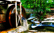 Grist Mill Digital Art - The old grist mill by David Lee Thompson