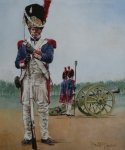Police Paintings - The Old Guard by David McEwen