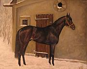 Horse Stable Painting Posters - the old Horse Stable Poster by Birgit Schnapp