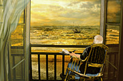 Old Man Fishing Framed Prints - The old man and the sea Framed Print by Anne Weirich