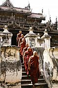 Myanmar Prints - The Old Monastery Print by Michele Burgess