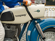 Bmw Racing Classic Bmw Photos - The old motorcycle by Odon Czintos