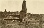 Firsts Posters - The Original 1859 Drake Oil Well Poster by Everett