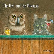 Happy Hour Prints - The owl and the pussycat... Print by Will Bullas
