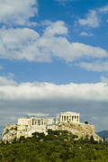 Greek Columns Posters - The Parthenon On The Acropolis Poster by Richard Nowitz