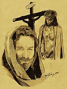 Jesus Drawings Originals - The Passion by Jason Kasper